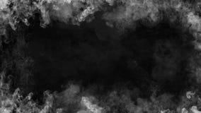 Chama branca do quadro Efeito da textura da névoa do fumo da beira para o filme, o texto ou o espaço ilustração do vetor