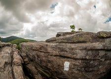 Chama branca na rocha em Jane Bald Overlook imagens de stock