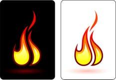 Chama do fogo ilustração royalty free