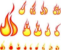 Chama do fogo ilustração stock