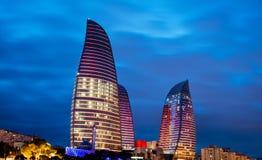A chama eleva-se o 9 de março em Azerbaijão, Bak Foto de Stock