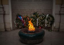 A chama eterno é um memorial às vítimas da segunda guerra mundial em Sarajevo fotografia de stock royalty free