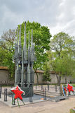 A chama eterno em Pskov no túmulo do soldado desconhecido Me Imagem de Stock Royalty Free