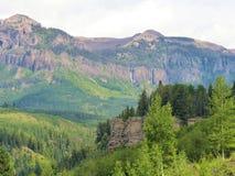 Chama Falls in Chama-Becken Colorado lizenzfreies stockbild
