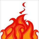 Chama impetuosa, fogo ardente, tiras do fogo do anel ilustração stock