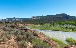 Rio Chama near Abiquiú, New Mexico. Royalty Free Stock Photo