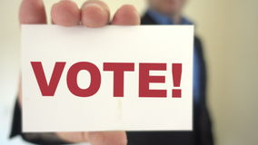 Chamada ao voto vídeos de arquivo