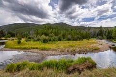 A chamada de Rocky Mountain National Park foto de stock