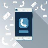 A chamada de Smartphone e envia a mensagem ilustração royalty free