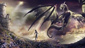 A chamada do dragão ilustração royalty free