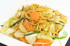 Chamada do macarronete de Pan Fried Yellow Chinese Imagens de Stock Royalty Free