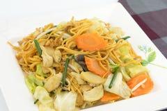 Chamada do macarronete de Pan Fried Yellow Chinese Imagem de Stock Royalty Free
