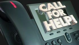 Chamada para o telefone do auxílio do serviço ao cliente da ajuda ilustração do vetor
