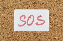 Chamada SOS da ajuda Fotografia de Stock