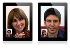 Chamada video do iPad 2 novos de Apple Foto de Stock