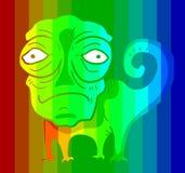 Chamaleon colorido Fotografia de Stock Royalty Free