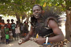 Chaman africain traditionnel Photo libre de droits