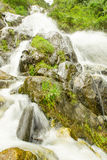 Chamana Waterfall Banos De Agua Santa Royalty Free Stock Photos