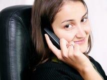 Chamando alguém 2 Foto de Stock Royalty Free