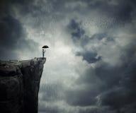 Chamando a chuva Imagem de Stock Royalty Free