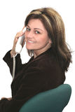 Chamando a mulher Imagem de Stock