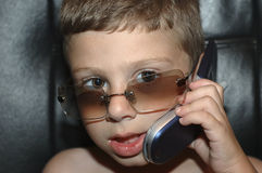Chamando Nanna fotografia de stock