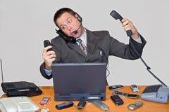 Chamando o homem de negócios Fotografia de Stock Royalty Free