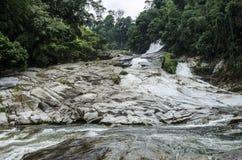 Chamang vattenfall, Bentong, Malaysia arkivfoto
