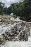 Chamang vattenfall, Bentong, Malaysia fotografering för bildbyråer