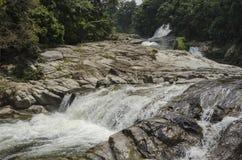 Chamang-Wasserfall, Bentong, Malaysia lizenzfreie stockbilder