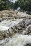Chamang-Wasserfall, Bentong, Malaysia stockfotos