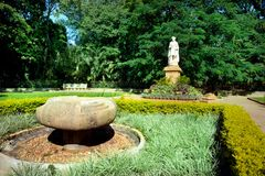 Chamarajendra Wadiyar statua przy Cubbon parkiem, Bengaluru (Bangalore) Obraz Stock