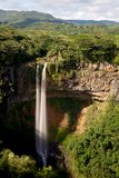 Chamarel瀑布,毛里求斯 免版税图库摄影