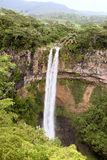 Chamarel falls. In Mauritius island Royalty Free Stock Photos