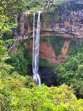 Chamarel falls on Mauritius island Royalty Free Stock Images