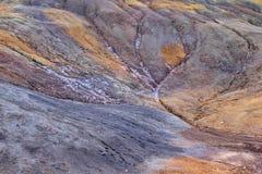 Chamarel Natuurlijke vorming van zand en rotsen, Mauritius stock afbeeldingen