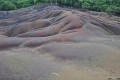 Chamarel Seven Coloured Earth Stock Images