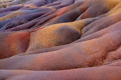 Chamarel seven coloured earths on Mauritius Royalty Free Stock Photo