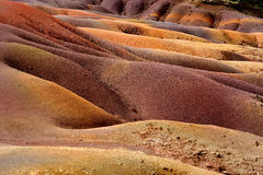 Chamarel seven coloured earths on Mauritius Royalty Free Stock Image