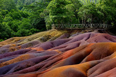Chamarel seven coloured earths on Mauritius Stock Photos