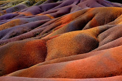 Chamarel seven coloured earths on Mauritius Stock Images