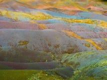 Chamarel Seven Coloured Earths. On Mauritius Island stock photo