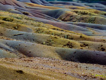 Chamarel Seven Coloured Earths. On Mauritius Island royalty free stock photos