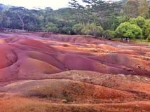 Chamarel Seven Coloured Earths on Mauritius island Stock Photo
