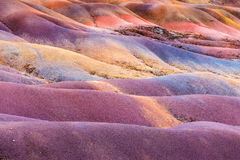 Chamarel sieben farbige Erde auf Mauritius Island lizenzfreie stockfotos