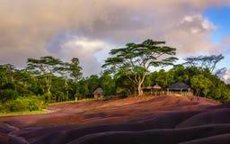 Chamarel sju färgade jordar Mauritius Royaltyfri Bild