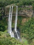 Chamarel waterfall. In Mauricius Island Stock Images