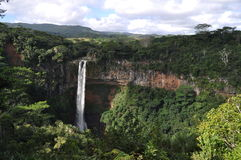 Chamarel waterfall Royalty Free Stock Photos