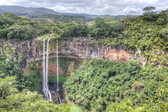 Chamarel waterfall in Mauritius Royalty Free Stock Image