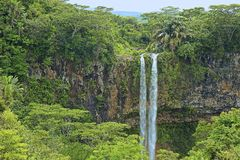 Chamarel waterfall in Mauritius Stock Image